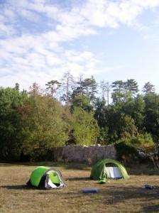 Camping at the nunnery