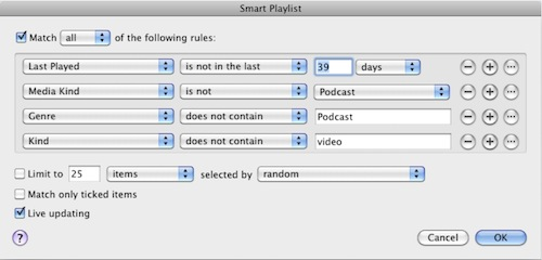 My Recently Uplayed Playlist