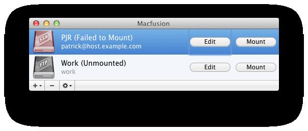 MacFusion at work
